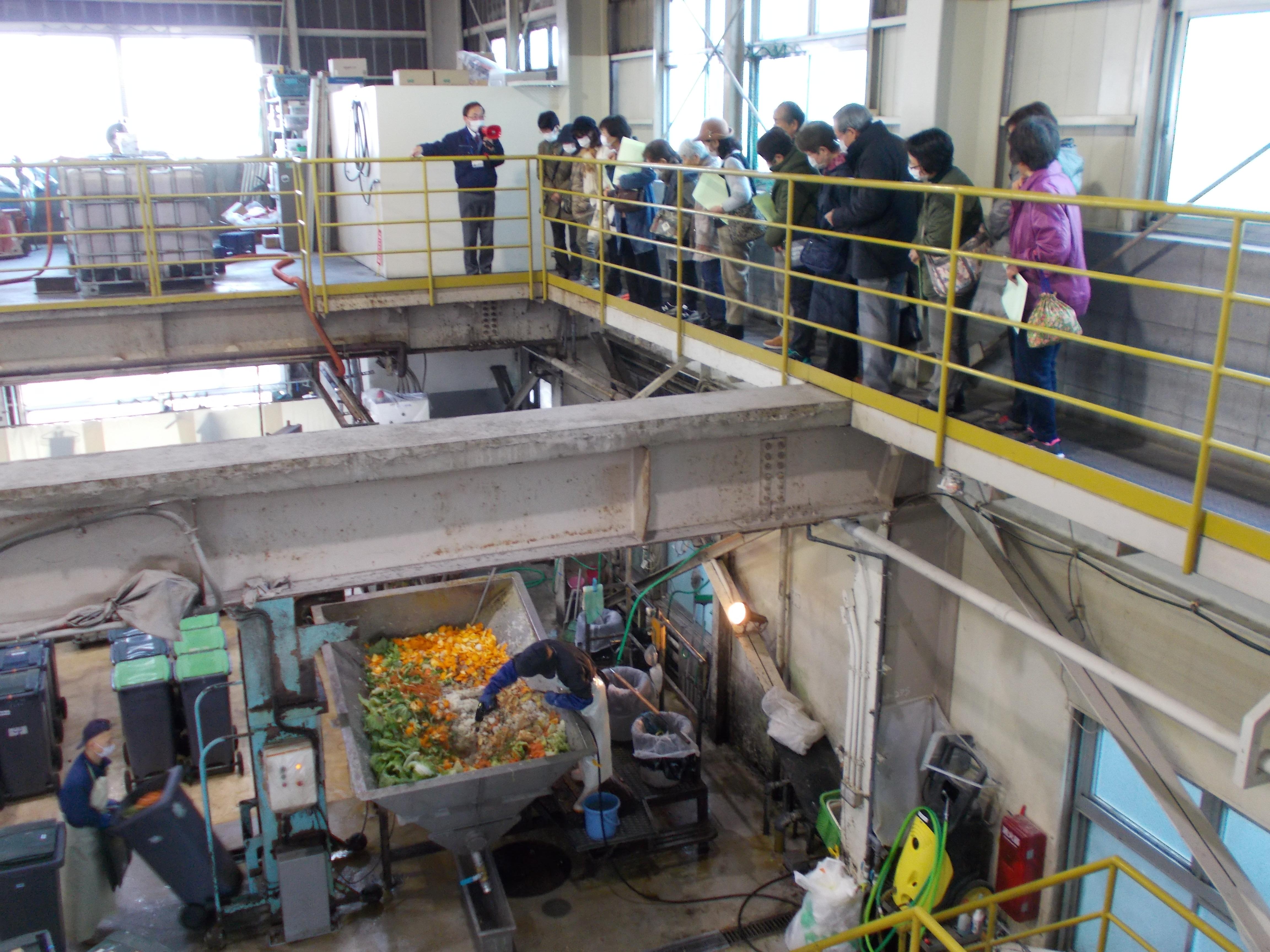 工場見学中の様子